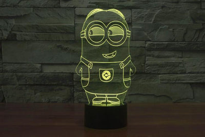Star Wars 3D Lights Color Changing LED Lamp STYLE - MINION 3D Lights