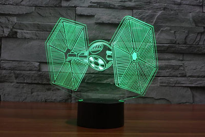 Star Wars 3D Lights Color Changing LED Lamp STYLE - TIEFIGHTER 3D Lights