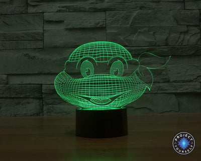 Star Wars 3D Lights Color Changing LED Lamp STYLE - TMNT 3D Lights