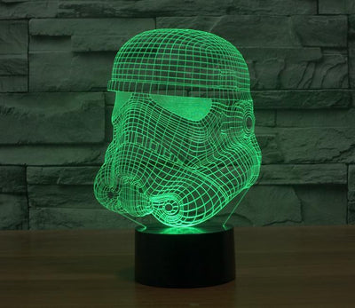 Star Wars 3D Lights Color Changing LED Lamp STYLE - TROOPER 3D Lights