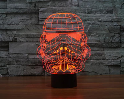 Star Wars 3D Lights Color Changing LED Lamp STYLE - TROOPER NEW 3D Lights