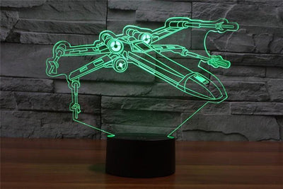 Star Wars 3D Lights Color Changing LED Lamp STYLE - X WING 3D Lights