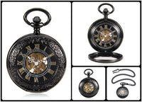 Steampunk Skeleton Mechanical Pocket Watch Style 1 Watches