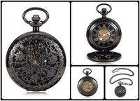 Steampunk Skeleton Mechanical Pocket Watch Style 10 Watches