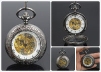 Steampunk Skeleton Mechanical Pocket Watch Style 11 Watches