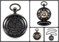 Steampunk Skeleton Mechanical Pocket Watch Style 12 Watches
