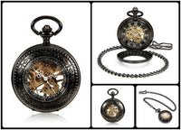 Steampunk Skeleton Mechanical Pocket Watch Style 13 Watches