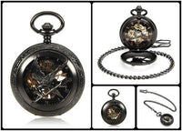 Steampunk Skeleton Mechanical Pocket Watch Style 14 Watches