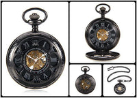 Steampunk Skeleton Mechanical Pocket Watch Style 2 Watches