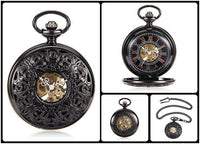 Steampunk Skeleton Mechanical Pocket Watch Style 3 Watches