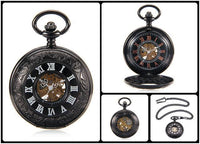 Steampunk Skeleton Mechanical Pocket Watch Style 4 Watches