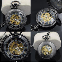 Steampunk Skeleton Mechanical Pocket Watch Style 5 Watches