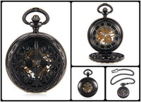 Steampunk Skeleton Mechanical Pocket Watch Style 7 Watches