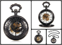 Steampunk Skeleton Mechanical Pocket Watch Style 9 Watches