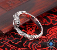 Sterling Silver Adjustable Open Dragon Ring Rings