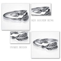 Sterling Silver Arrow Open Ring Rings