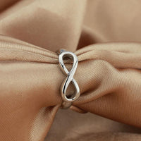 Sterling Silver Classic Infinity Ring Rings