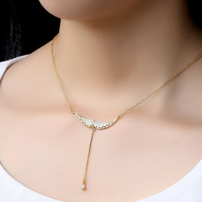 Sterling Silver Drop of Heaven Necklace Gold Necklace
