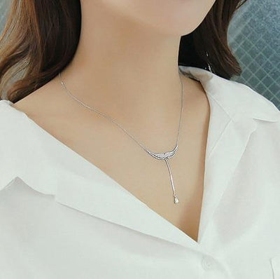 Sterling Silver Drop of Heaven Necklace Necklace