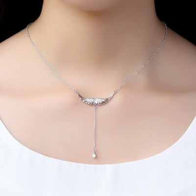 Sterling Silver Drop of Heaven Necklace Silver Necklace