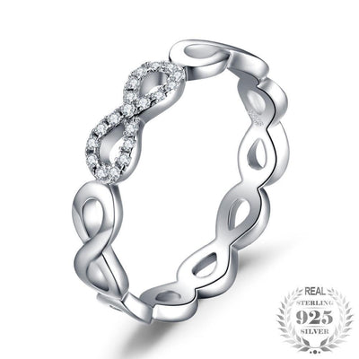 Sterling Silver Forever Love Infinity Ring Rings