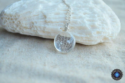 Sterling Silver Glass Kabbalah Tree Of Life Pendant Necklace Necklace