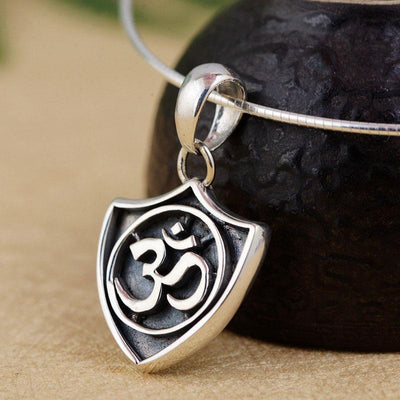 Sterling Silver Om Herald Pendant