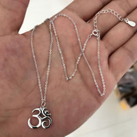 Sterling Silver Om Necklace Necklace