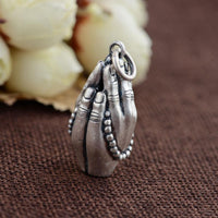 Sterling Silver Prayers of Buddha Pendant pendant