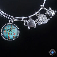 Stunning Tree of Life Adjustable Charms Bangles Bracelet Style 10 Bracelet