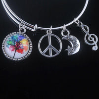Stunning Tree of Life Adjustable Charms Bangles Bracelet Style 11 Bracelet
