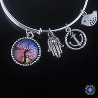 Stunning Tree of Life Adjustable Charms Bangles Bracelet Style 13 Bracelet