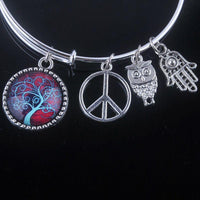 Stunning Tree of Life Adjustable Charms Bangles Bracelet Style 6 Bracelet