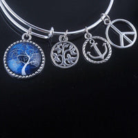 Stunning Tree of Life Adjustable Charms Bangles Bracelet Style 9 Bracelet