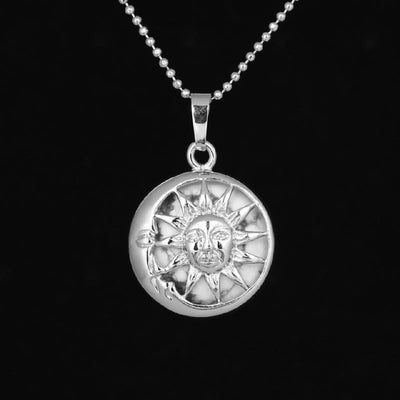 Sun And Moon Healing Stone Openwork Necklace Howlite Necklace