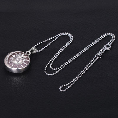 Sun And Moon Healing Stone Openwork Necklace Necklace