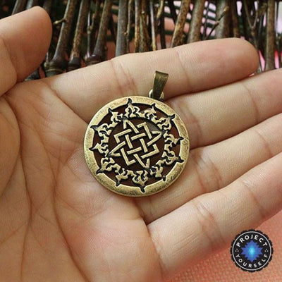 Svarog Square Star of Rus Pendant Necklace Antique Bronze Plated Necklace