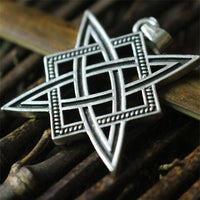 Svarog Square Star of Rus Pendant Necklace Platinum Plated Necklace