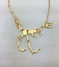 T-Rex Skeleton Necklace Gold / Buy 1 - Save 50% Necklaces