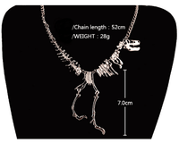 T-Rex Skeleton Necklace Necklaces