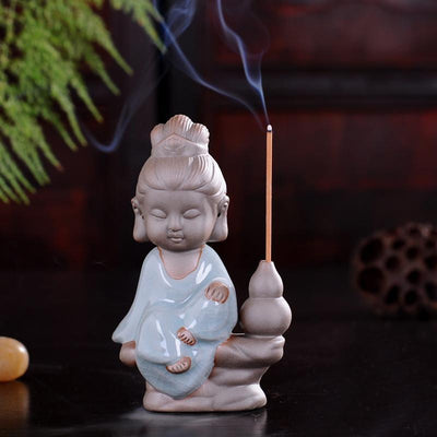Tea Pet Ceramic Incense Burner Dark Blue Stick 2 Incense Holder