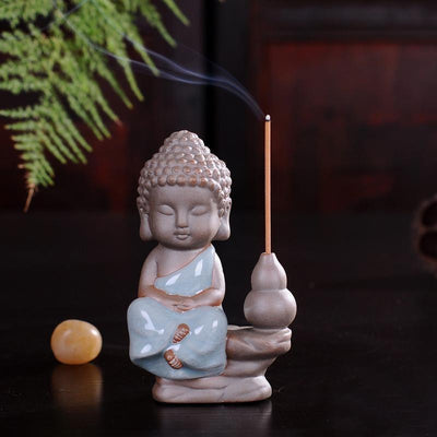Tea Pet Ceramic Incense Burner Dark Blue Stick 3 Incense Holder