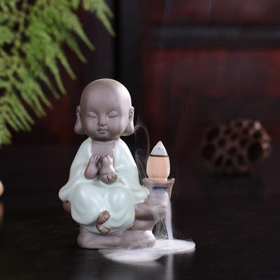 Tea Pet Ceramic Incense Burner Sky Blue Backflow 1 Incense Holder