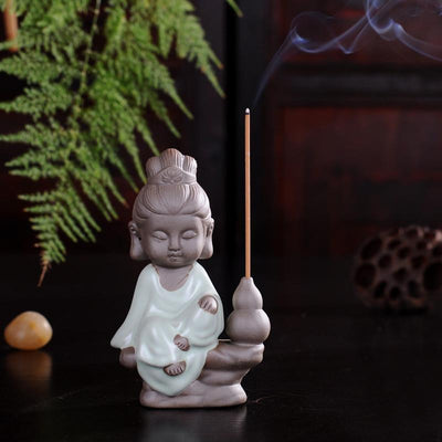 Tea Pet Ceramic Incense Burner Sky Blue Stick 2 Incense Holder