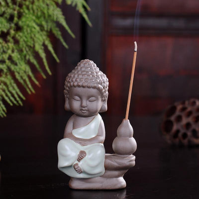 Tea Pet Ceramic Incense Burner Sky Blue Stick 3 Incense Holder