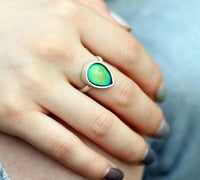 Tear Drop Mood Ring Rings