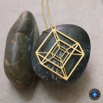 Tesseract hypercube sacred geometry pendant necklace project yourself tesseract hypercube sacred geometry pendant necklace necklace aloadofball Gallery
