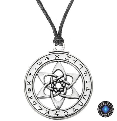 The Astrologer's Star: Angel Kakabel Pendant Necklace Rope Chain Necklace