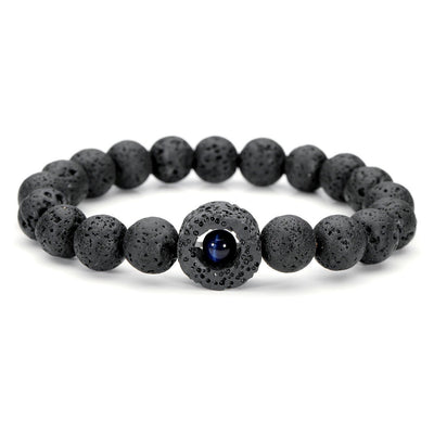 Tiger Core Lava Rock Bracelet Blue Tiger Eye Bracelet
