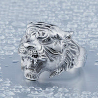 Tiger Head Ring Bright Silver / 6 Rings
